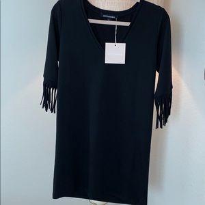 Kittenish | black fringe dress